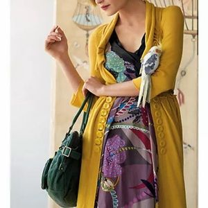Anthropologie Moth Double Button Sweater Coat